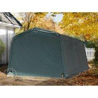 Abri/Tente garage PREMIUM 3,3 x 4,8 m pour voiture et bateau - toile PVC env. 500g/m² imperméable vert fonce