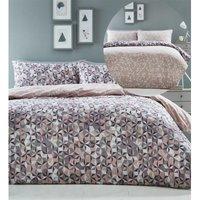 Abstract Geometric Pink Super King Duvet Cover Set Bedding Bed Set Reversible
