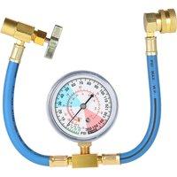 AC R134A Car Auto Air Conditioning Refrigerant Recharge Measuring Hose Gauge Kit 1/2