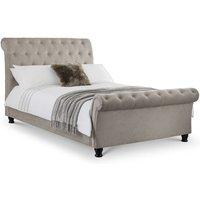 Adah 4ft6 Double 135 x 190 MINK CHENILLE Bed Frame