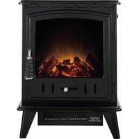 Adam Aviemore Freestanding Stove Fire Heater Heating Real Log Effect Flat Black - ADAM FIRES