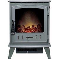 Adam Aviemore Freestanding Stove Fire Heater Heating Real Log Effect Grey - ADAM FIRES