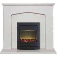 Adam Cotswold Stone Surround Fireplace Stove Fire Heater Heating Suite Flame