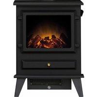 Adam Hudson Freestanding Stove Fire Heater Heating Real Log Flame Effect Black - ADAM FIRES