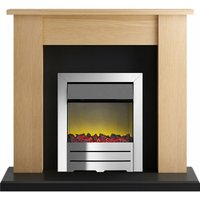 Adam New England Surround Fireplace Stove Fire Heater Heating Suite Flame Black
