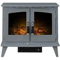 Woodhouse Electric Stove in Grey - Adam