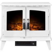 Woodhouse Electric Stove in Pure White - Adam