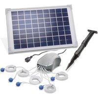 Aeratore solare per stagno 10W. Pompa di aerazione da 120l/h a 5 uscite per stagno da giardino esotec 101887