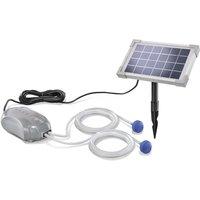 Aeratore solare per stagno DUO 2.5W Pompa di aerazione da 90l/h per stagno da giardino esotec 101880
