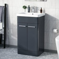 Afern 500mm Vanity Unit Cabinet and Wash Basin Anthracite