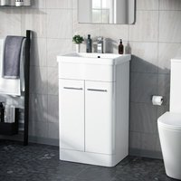 Afern 500mm Vanity Unit Cabinet and Wash Basin White