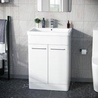 Afern 600mm Vanity Unit Cabinet and Wash Basin Basin White