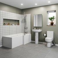 Affine Oceane L Bathroom Suite - Right Hand