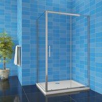 1850H Sliding Shower Door Enclosure 1200mm + 800mm Side Panel - Aica