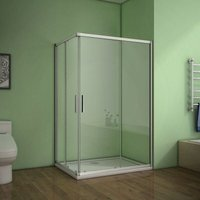90x90x185cm AICA Corner Entry Shower Enclosure sliding shower cubicle Eletro off white