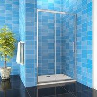 1200x1900mm Bathroom Sliding Shower Door Enclosure Cubicle 8mm NANO Glass + 1200x800mm Tray Waste