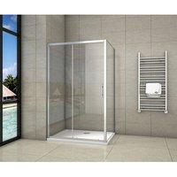 160x80x190cm Sliding Shower Enclosure 190cm - Aica