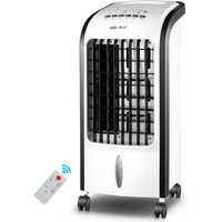 Air Cooler for Home with Remote Control Portable Air Conditioner Timed Fan Humidifier, Black
