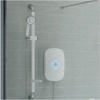SmartCare Plus White Electric Shower, Silver/White Kit, 10.5kW - AKW