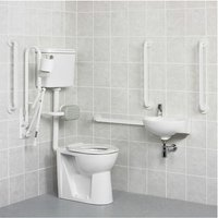 Standard Doc M Pack with Low Level Disabled Toilet - White - AKW