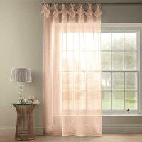Tiara Dolly Diamante Tab Top Curtain Panel (Blush, 57 x 90 [145x229cm]) - Alan Symonds