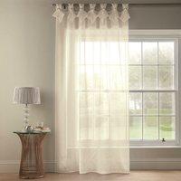 Tiara Dolly Diamante Tab Top Curtain Panel (Cream, 57 x 72 [145x183cm]) - Alan Symonds