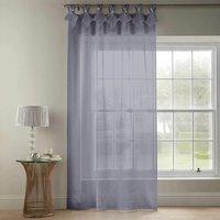 Tiara Dolly Diamante Tab Top Curtain Panel Silver 57x72 (145x183cm) - Alan Symonds