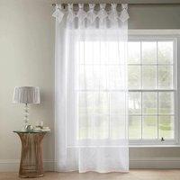 Alan Symonds Tiara Dolly Diamante Tab Top Curtain Panel White 57x108
