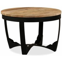 Alizeh Solid Rough Mango Wood Side Table by Brown - Union Rustic