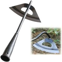 Briday - All Steel Hardened Hollow Hoe Gardening Release Soil Tool, Garden Planting Hoe, Portable Weed Rattling Farm Weeding Accessories