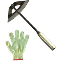 Briday - All Steel Hollow Hoe Hardened Outfit and agrave; Handheld Portable Gardening Loosening Soil Tool - Household Weed Killer Garden Farming