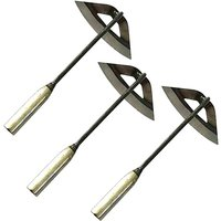 Briday - All Steel Hollow Hoe Hardened Outfit and agrave; Handheld Portable Gardening Soil Release Tool - Household Weed Killer Garden Farming