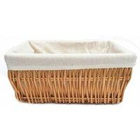 Wider Large Big Deep Lined Kitchen Wicker Storage Basket Xmas Hamper Basket [Pine,Extra Large 52x40x21cm]