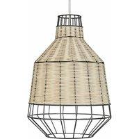 28cm Rattan Ceiling Pendant Light Shade - No Bulb