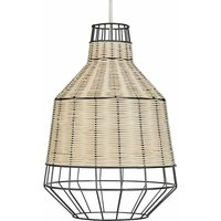 MiniSun - 28cm Rattan Ceiling Pendant Light Shade - LED Bulb