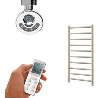 ALPINE ELEMENTS Heated Towel Rail / Warmer - Electric + Thermostat, Timer, 80cm, Beach - SOL*AIRE HEATING PRODUCTS
