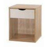 Timber Art Design Uk - Alton Bedside Cabinet Bedroom Furniture Nightstand Table 1 Drawer Oak White