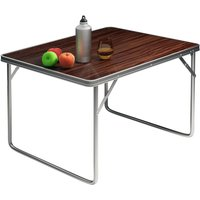 Casaria - Aluminium Camping Table 80x60x70cm Folding Portable Outdoor Indoor Party BBQ Patio Kitchen Work Top Sturdy Lightweight