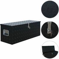 Vidaxl - Aluminium Box 1085x370x400 mm Black