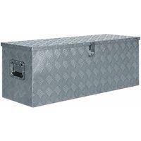Aluminium Box 110.5x38.5x40 cm Silver