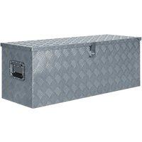 Zqyrlar - Aluminium Box 110.5x38.5x40 cm Silver - Silver