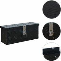 Aluminium Box 485x140x200 mm Black - Black
