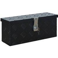 vidaXL Aluminium Box 485x140x200 mm Black - Black