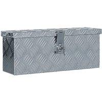Aluminium Box 48.5x14x20 cm Silver - Silver
