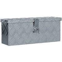 Aluminium Anthracite Box Silver 48.5x14x20 cm - Silver - Vidaxl