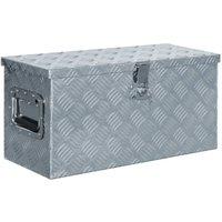 Zqyrlar - Aluminium Box 61.5x26.5x30 cm Silver - Silver