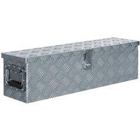 Zqyrlar - Aluminium Box 80.5x22x22 cm Silver - Silver