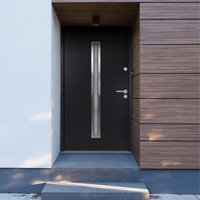 vidaXL Aluminium Front Door Anthracite 100x200 cm - Anthracite
