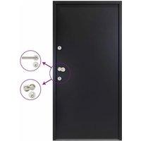 Aluminium Front Door Anthracite 100x200 cm - Anthracite - Vidaxl