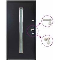 vidaXL Aluminium Front Door Anthracite 110x207.5 cm - Anthracite